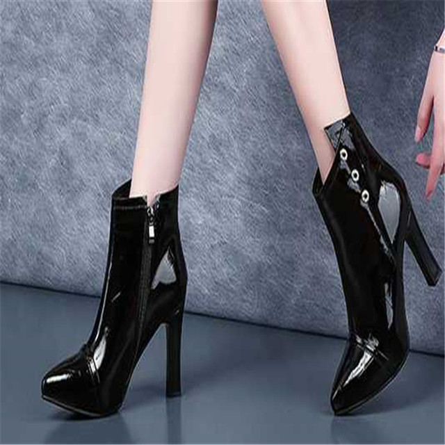 2018 new ayemiland fashion pointed toes Pure color shallow mouth high-heeled shoes woman Single shoes JH1 1