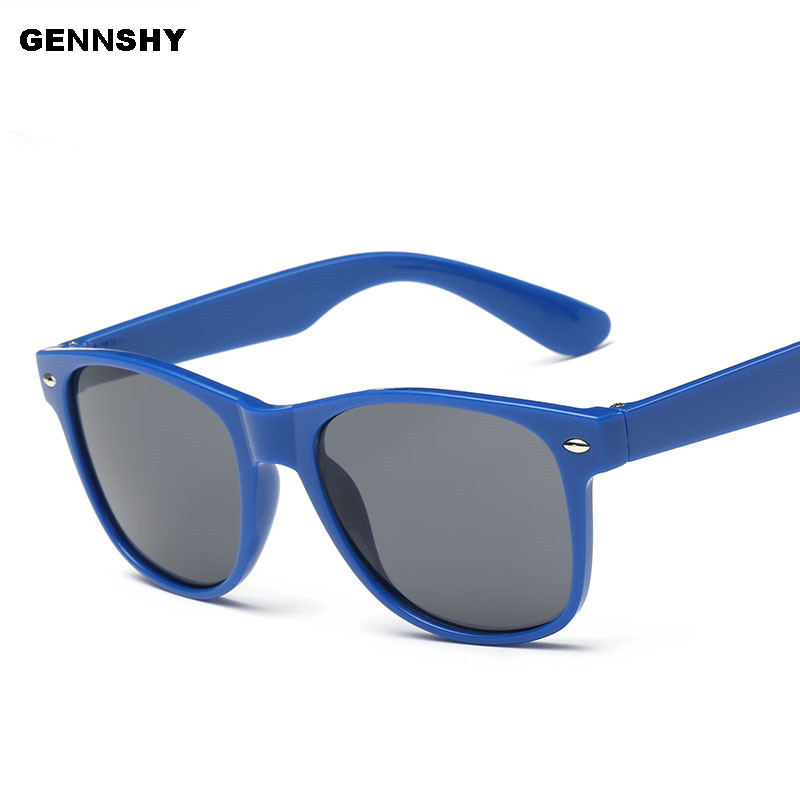 Newest Fashion Square Sunglasses Men Vintage Brand Design Nails Plastic Blue Green Grey Lenses Driving