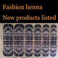 Henna Silver lace Fashionable Nail Art Stickers Mixed Designs Watermark nails tips Decals Wraps Nail Art Tools