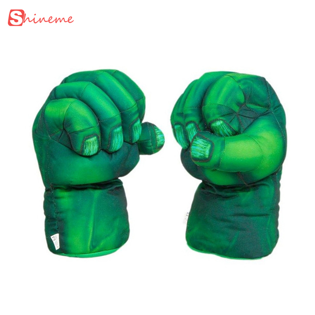high quality comforttable soft 13*33cm Hulk Smash Hands  Spider-Man Plush baby Gloves Spiderman Performing Props for Great Gift