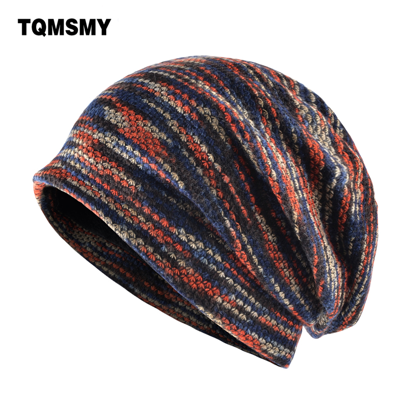 TQMSMY Lengthened   skullies   knitted wool hat Men's winter cap Keep warm   beanies   men bonnet plus velvet hats for women bone gorro
