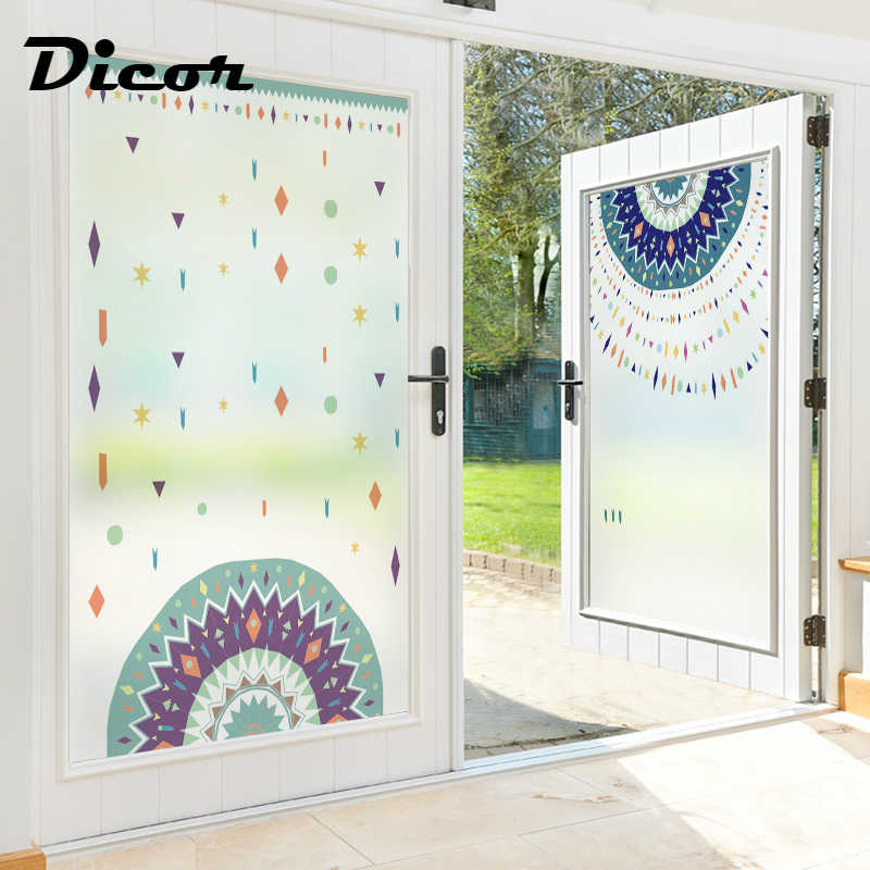 Stained Glass Sticker Diy Window Privacy Film For Bedroom Bohemian Star Style 2019 New Fashion Decorative Vinyl For Doors Blt185