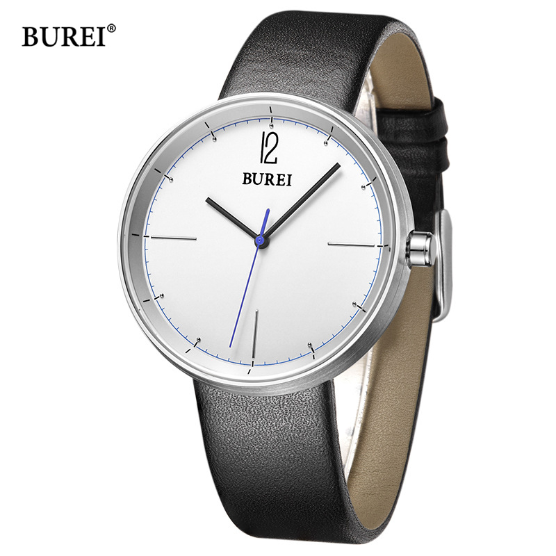 Luxury Brand Burei Watches Men Waterproof Leather Watchband Fashion Business Quartz Wrist Watch Mens Clock Hours 2017 Saat Erkek xinge top brand luxury leather strap military watches male sport clock business 2017 quartz men fashion wrist watches xg1080