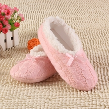 2016 New Warm Soft Sole Women Indoor Floor Slippers/Shoes White Black Woolen Slippers Flannel Flat Home Slippers 7 Color XP30