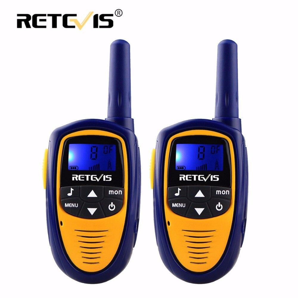 A pair Retevis RT31 Children Walkie Talkie For Kids 0.5W 8/22CH PMR FRS PMR446 Handheld Mini 2 Way Radio Hf Transceiver Toy Gift