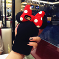 Luxury cartoon minnie protective case 3d soft silicone back cover for iPhone 7 plus lovely women phone bags for iPhone 7 6 6S
