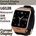 Reloj inteligente LG128 portátil con NFC, soporte GPS tarjeta SIM 1.3mp cámara captura remota Monitor de sueño reloj de pulsera impermeable
