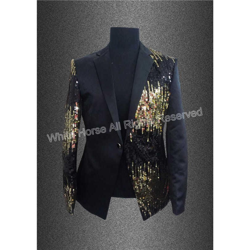 Popular Black and Gold Blazer-Buy Cheap Black and Gold Blazer lots ...