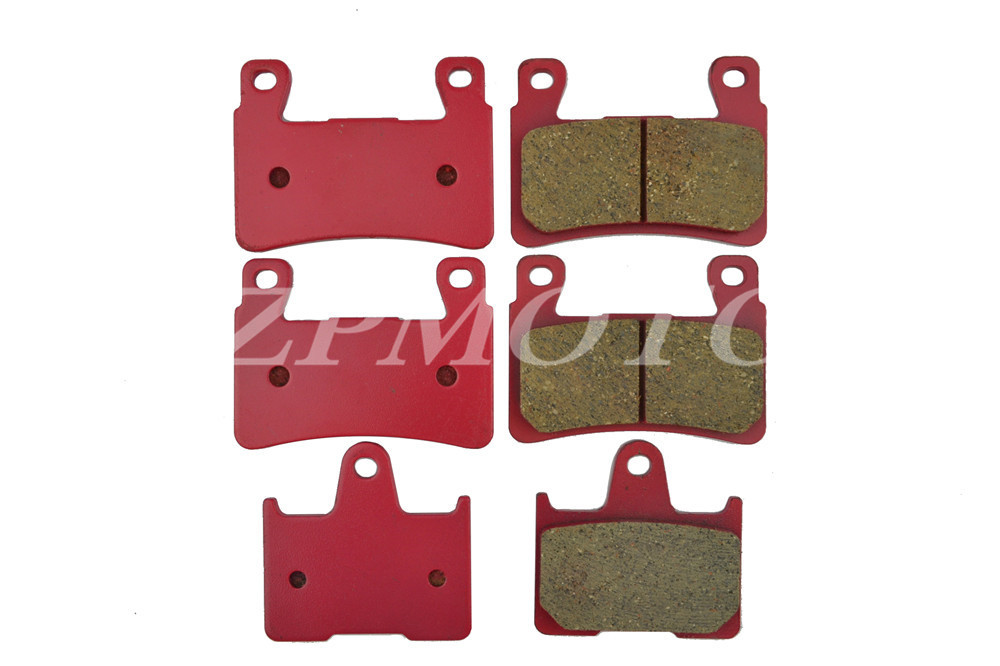 Front+Rear CB400 VTEC 1999-2000 CARBON CERAMIC ROAD BRAKE PADS High-Quality 1999 2000 arctic cat 250 2x4 kevlar carbon front brake pads