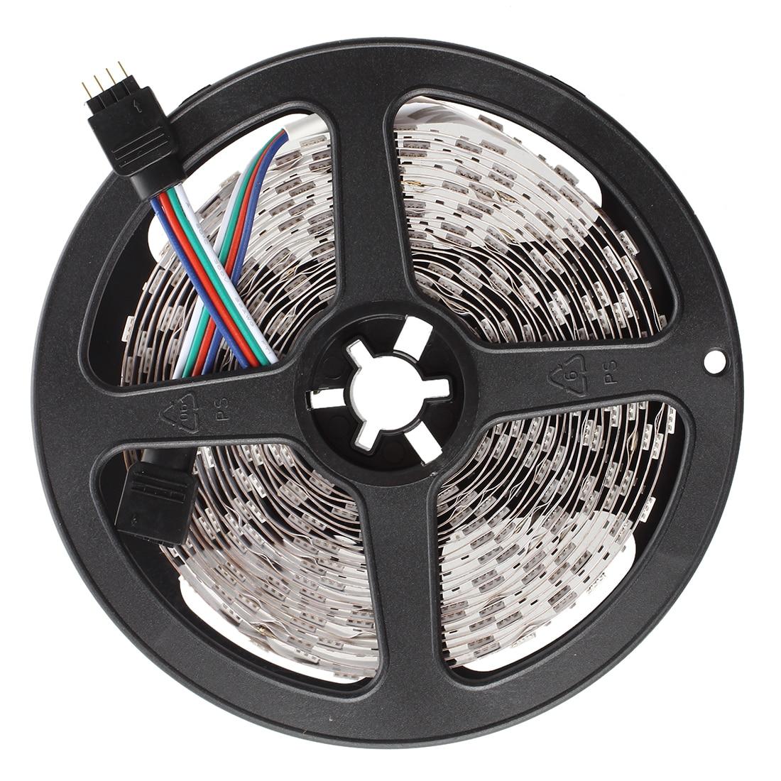 5 м 5050 SMD 300 RGB светодиодный полосы света лампы 12 В DC декор + мини 24 клавиши контроллер