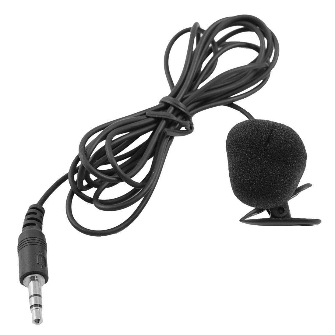 MSN PC Black 3.5 mm Connector Tie Clip Microphone 1,75 m