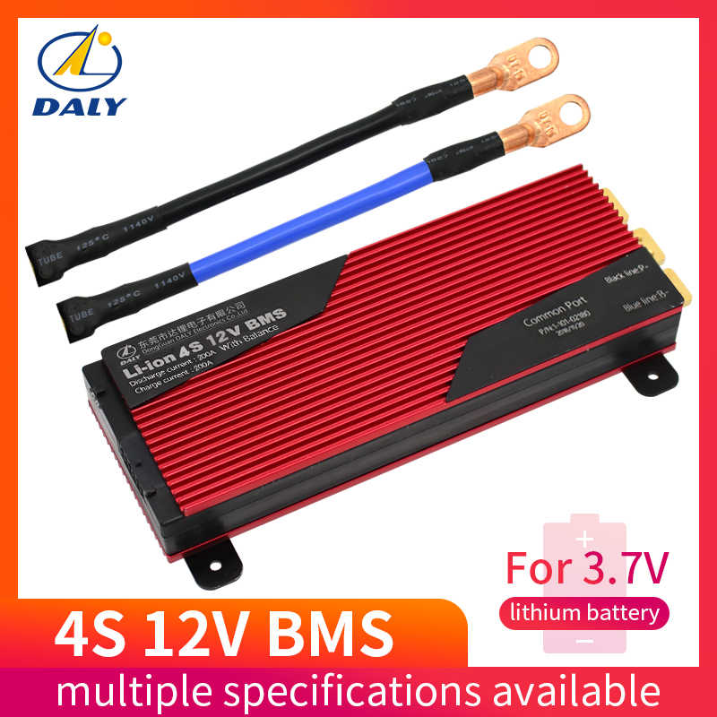 Daly 14s battery pcm bms 80a 100a e bike li ion battery management system 48v With
