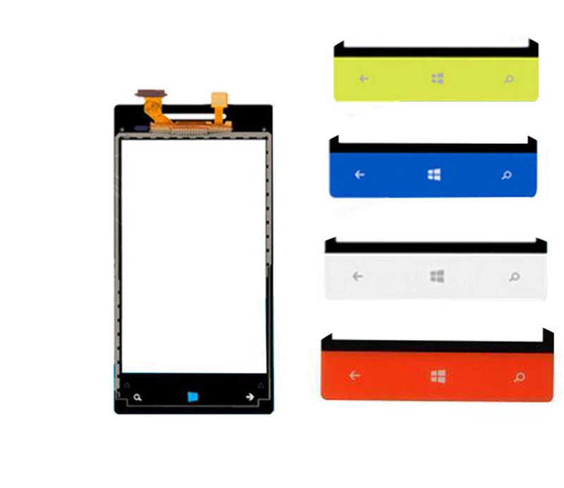 100% Test For HTC Windows Phone 8S A620e Front Touch Screen Digitizer Panel Glass Sensor Replacement
