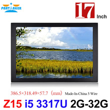 Panel PC Industrial 17 Inch Made-In-China 5 Wire Resistive Touch Screen Core I5 3317u All In One Computer(China)