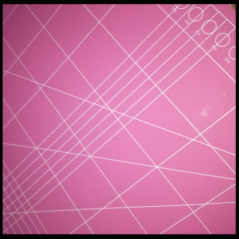 Eco Friendly A3 Pink Cutting Mat Rectangle Self Healing  Colorful TPE Cutting Mat DIY Mat
