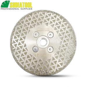Image 3 - SHDIATOOL 1 pc Elettrolitico del diamante taglio disco di macinazione Entrambi I Lati rivestito di diamanti lama di granito di marmo di Taglio Ruota