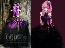 Vocaloid Cosplay Costume Megurine Luka Gorgeous Gown Purple Fancy Dress Halloween Costumes for Women Customized