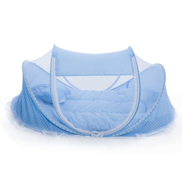 Lovely Foldable Baby Crib With Mosquito Net