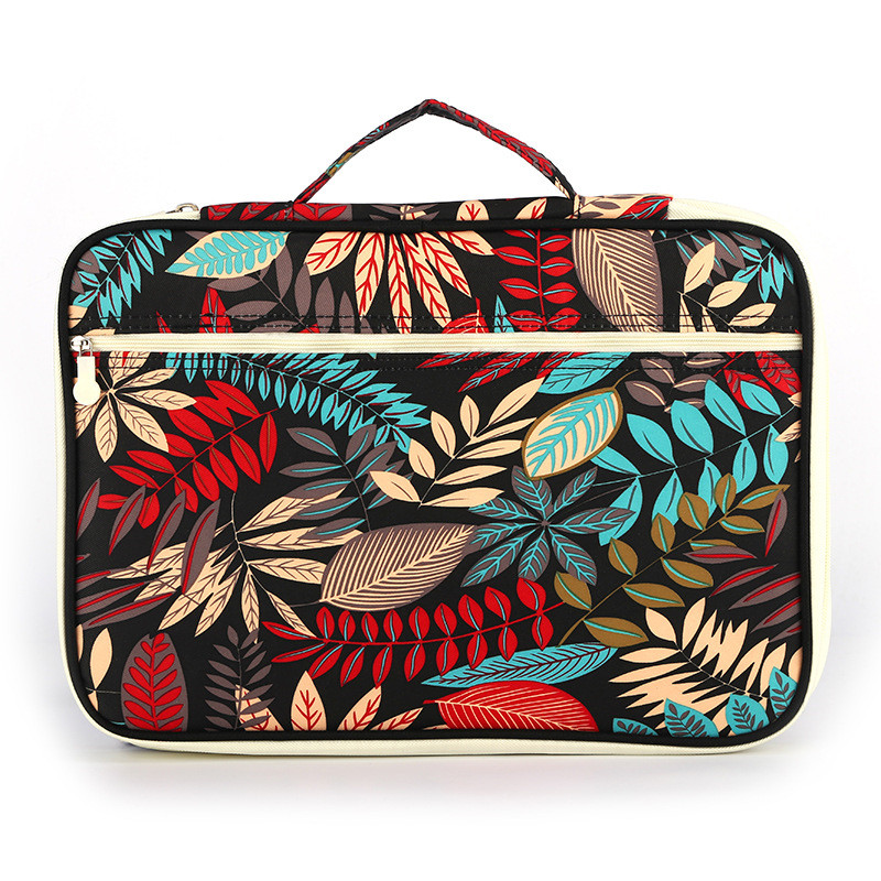 Fashion Leaves Printed Waterproof Make Up Bag Women Cosmetic Bag Multifunction Organizer Waterproof Portable Makeup Bag