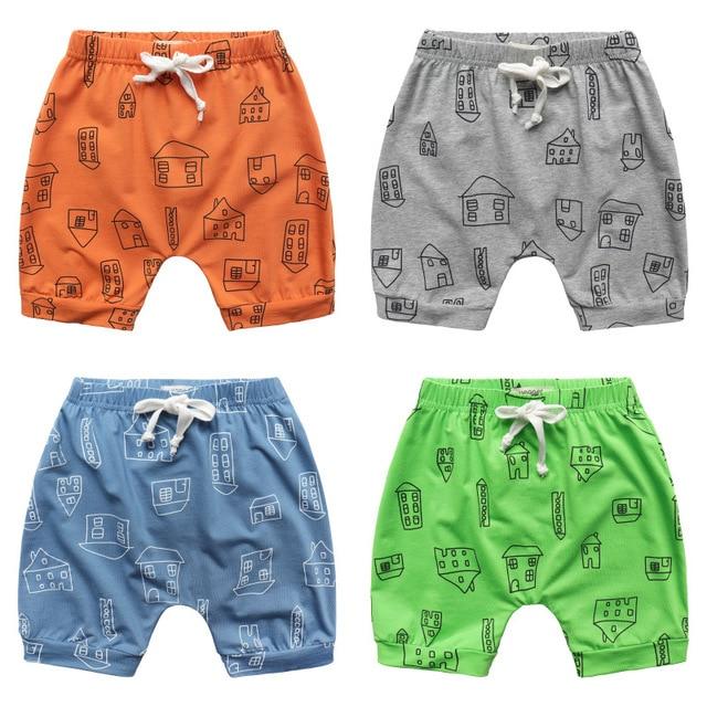 3e352257ea06 Children Pants Cartoon House Printed Harem Shorts Trousers for Boys Cotton  Summer Style Children Brand Casual Beach Sport Shorts