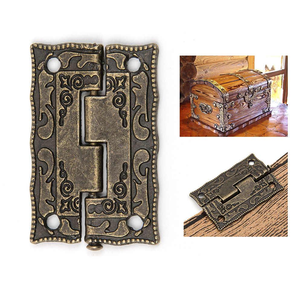 10 шт./компл. шкаф дверные петли Мини ящик бронза декоративные мини-петли для шкафа деревянный ящик для хранения Винтаж