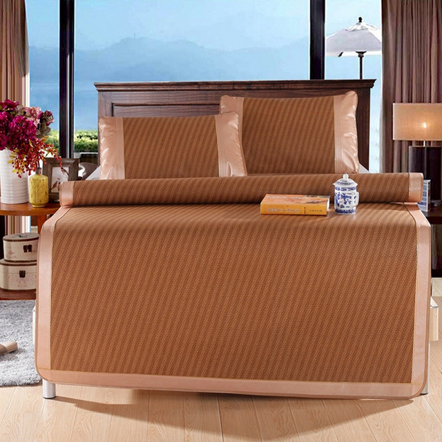 3 pieces/set Rattan mats Foldable cool summer air conditioned seats ...
