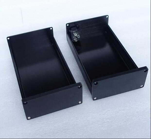 0905 Noir Complet En Aluminium Audio Amplificateur Boîtier/Mini AMP Cas/Préampli Boîte/PSU Châssis bateau Libre