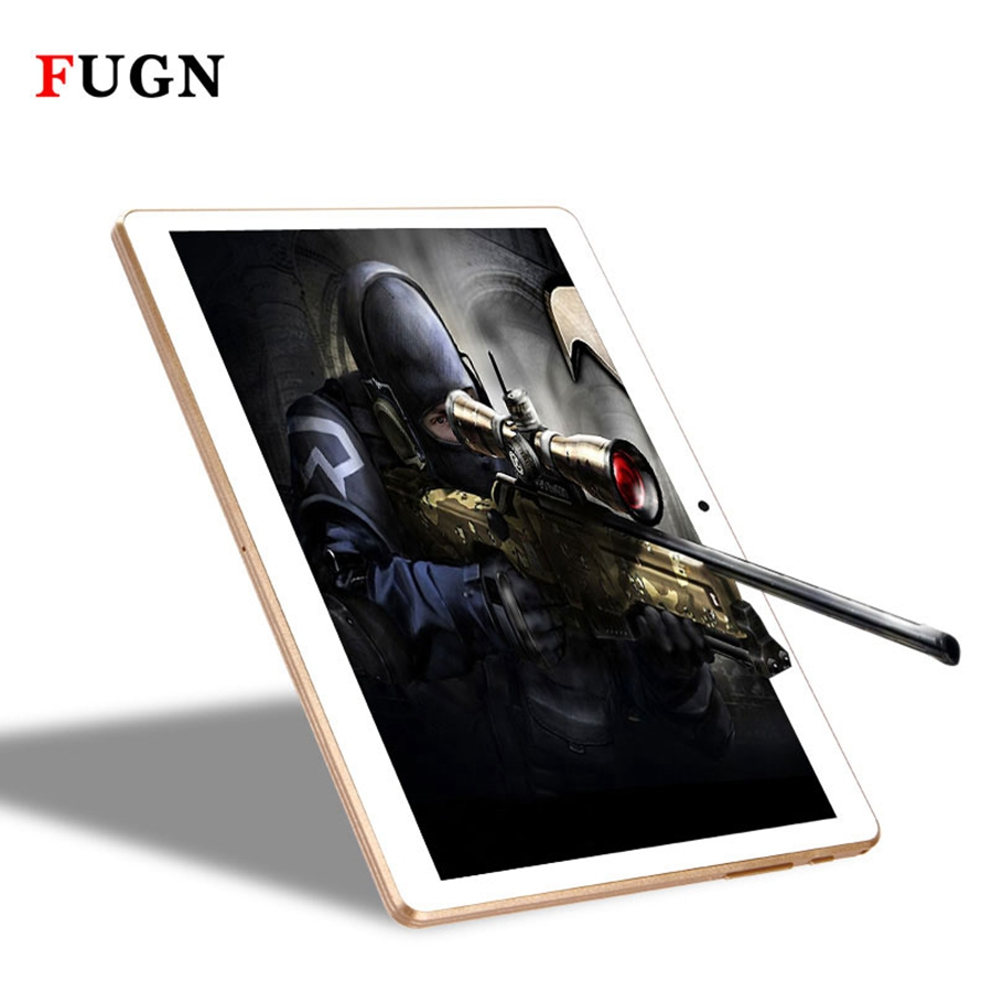FUGN 10 inch Original Tablet Android 6.0 3G Phone Call Octa Core 4GB RAM GPS Wifi 1920*1200 IPS for Kids Gift with Keyboard