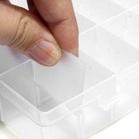 5 stücke von 2x Pills Falsche Nagel-kunst-spitzen aufbewahrungstasche Box Fall 24 Fächer Craft