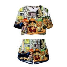 One Pieces Women Outfits Two Piece Set Outfit 3D T-Shirt Womens Suit Shorts Summer Top Ensemble Femme Anime