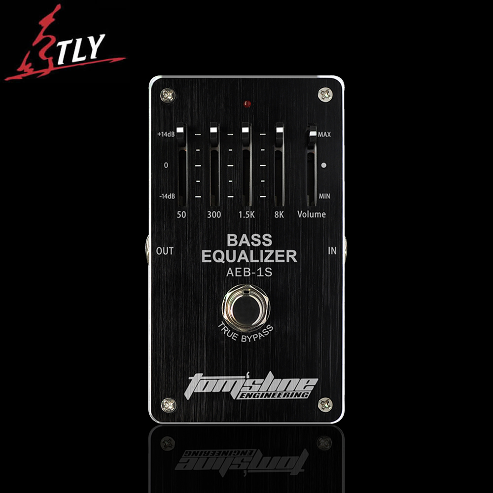 AROMA AEB-1S True Bypass Bass 4-band Equalizer Electric Bass Effect Pedal Exclusive Free Shipping aroma aeb 3 bass analog 5 band eq equalizer electric guitarra guitar effect pedal with true bypass