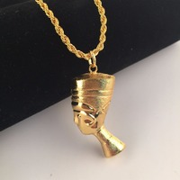29 5 Mens Jewlery Iced Out Hip Hop Gold Tone Bling Pharaoh Tut Pendant Fashion Rope