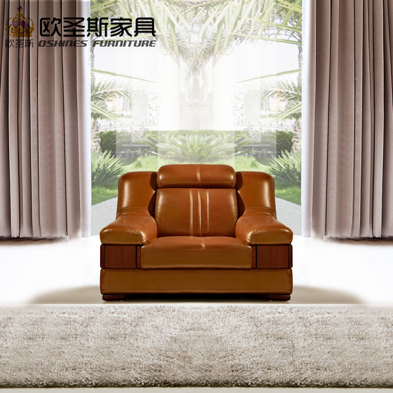 wooden decoration sofa furniture modern lobby sofa design China buffalo leather funitures sofa sets for living room 632A-in Living Room Sofas from Furniture ... & wooden decoration sofa furniture modern lobby sofa design China ...
