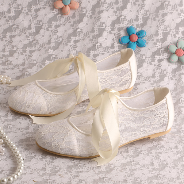 SALE Lace Wedding Shoes Lace Bridal Shoes Lace Bridesmaid Shoes - Over Color Choices to Pick From Bridesmaid Shoes - CHAMPAGNE LACE Pointy Toe ballet flats with scattered rhinestones kaileep. 5 out of 5 stars Lace Shoes* Lace Heels* Wedding Shoes* Ecru Cream Color Winter White Heel TwoSistersFinds. 5 out of 5 stars.
