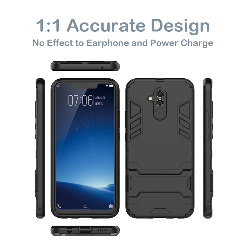 Hybrid Case For Huawei Mate 20 Lite Mate 10 Lite Pro X Case Armor Robot Bumper For Huawei Nova 3 4 2i 2S 2 Plus G8 Cover Fundas in Fitted Cases from Cellphones Telecommunications