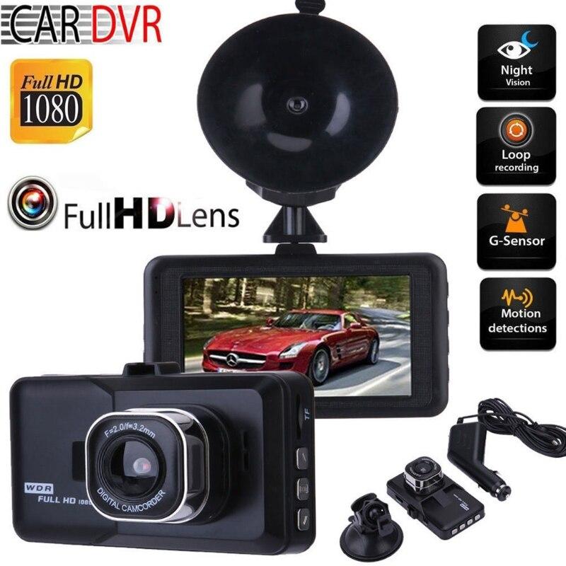 OOTDTY 1 Set 3.0 Inch Car DVR Camera 1080P Full HD Vehicle Video Recorder 120 Degree Dash Cam USB/HDMI Port