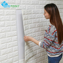2pcs/pack DIY Self Adhensive 3D Wall Stickers Brick Waterproof Wallpaper Room Decor For Kitchen Kids Bedroom Living Sticker