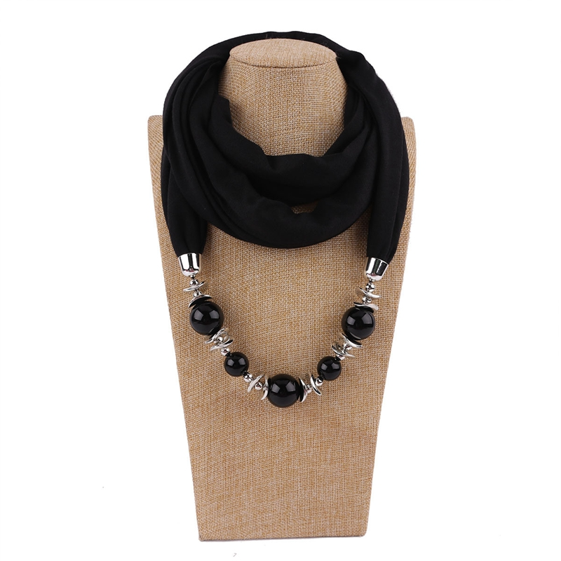 Fashion Hoops 2019 Ethnic Pendant Necklace Scarf For Women Chiffon Cotton Scarf With Pendant Foulard Femme Accessories Scarf in Women 39 s Scarves from Apparel Accessories