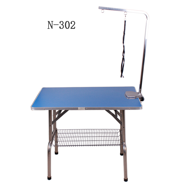 new n302 mobile folding dog cat pet grooming table stand foldable hair