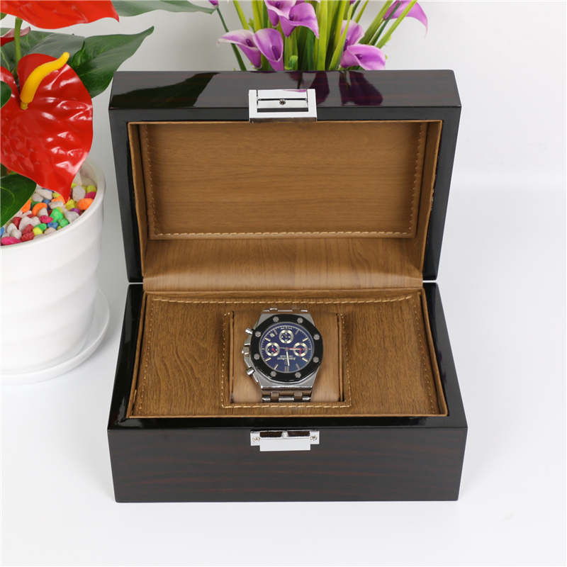 Top Wood Watch Box Classic Black High Light Wooden Watch Storage Box Fashion Watch Display Jewelry Gift Cases W025 han 10 grids wood watch box fashion black watch display wooden box top watch storage gift cases jewelry boxes c030