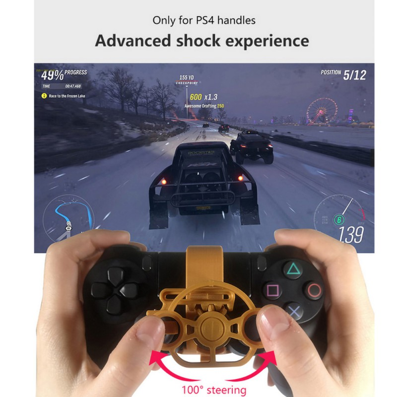3D Printing Mini Steering Wheel Added For Playstation 4 Controller Handle For PS4 Racing  Game Steering Wheel