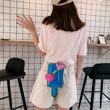 Summer New Laser Sequins Love Ice Lolly Funny Chain Small Bag Creative Ice Cream Hit Single Shoulder Bag Purses And Handbags