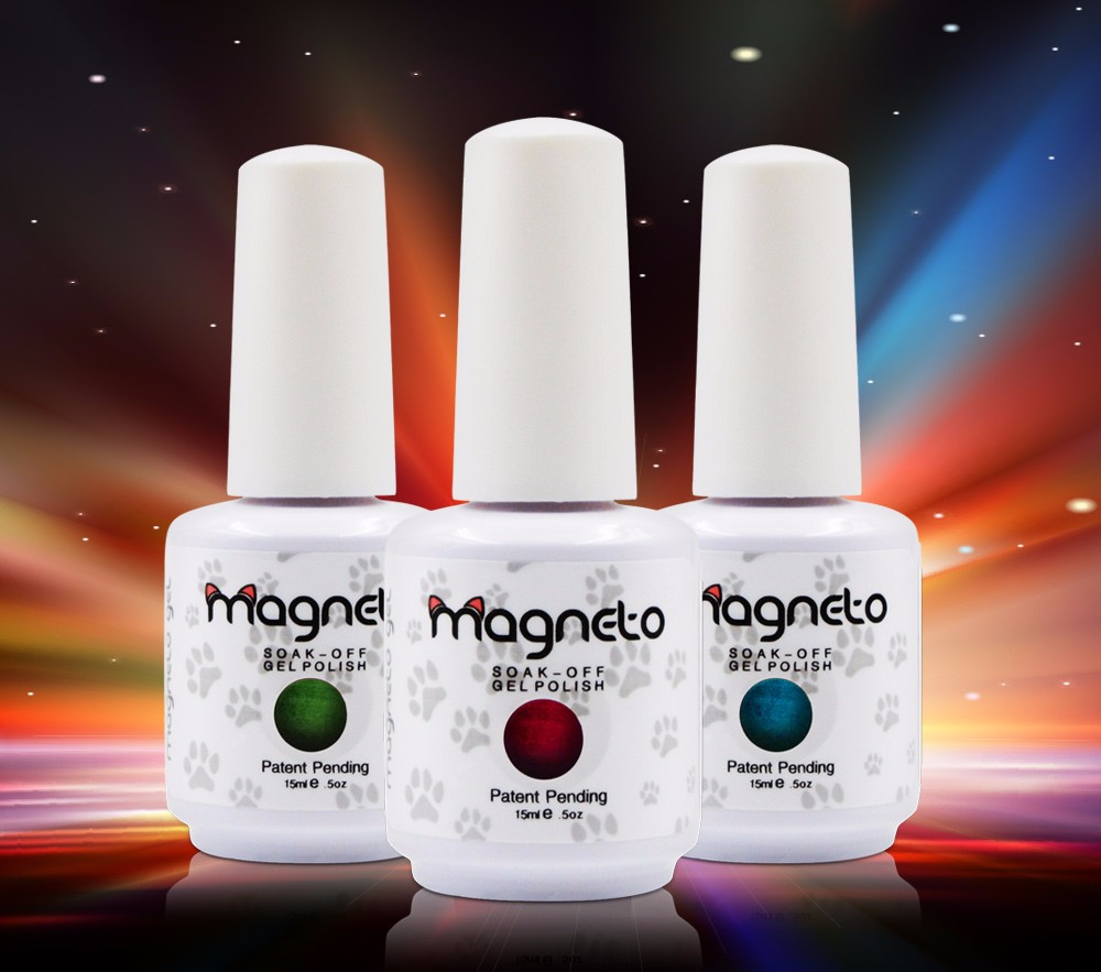 ₪12 Bottles Lot Set Rainbow Magneto Gel Nails Newest Beauty Colorful ...