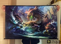 League of Legends LOL: BUFF HD Game Scrolls Poster Bar Cafes Home Decoration Banners Hanging Art Waterproof Cloth Decorative