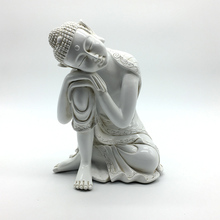 Sculpture Decorative Modern White Resin Buddha Statue for Home Decoration Figure Sculptures Crafts Bouddha Statues