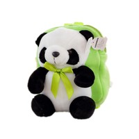 2017 New Fashion Cartoon Cute Panda Peluche Soft Plush Stuffed Toddler Backpack Kindergarten Snacks School Bag