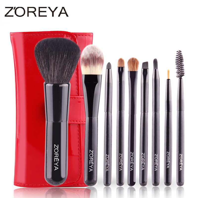 ZOREYA 9pcs Makeup Brushes Sets Portable Kolinsky Hair Foundation Powder Blush Professional Make Up Brush Cosmetic Tools h01 professional makeup brushes squirrel hair sokouhou goat hair powder brush walnut wood handle cosmetic tools make up brush