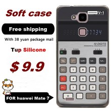 2,000+Gallery/ For Huawei ascend Mate7 soft shell Tup silicone cases cover 6.0″ inch / cell phone case Calculator /Free shippin