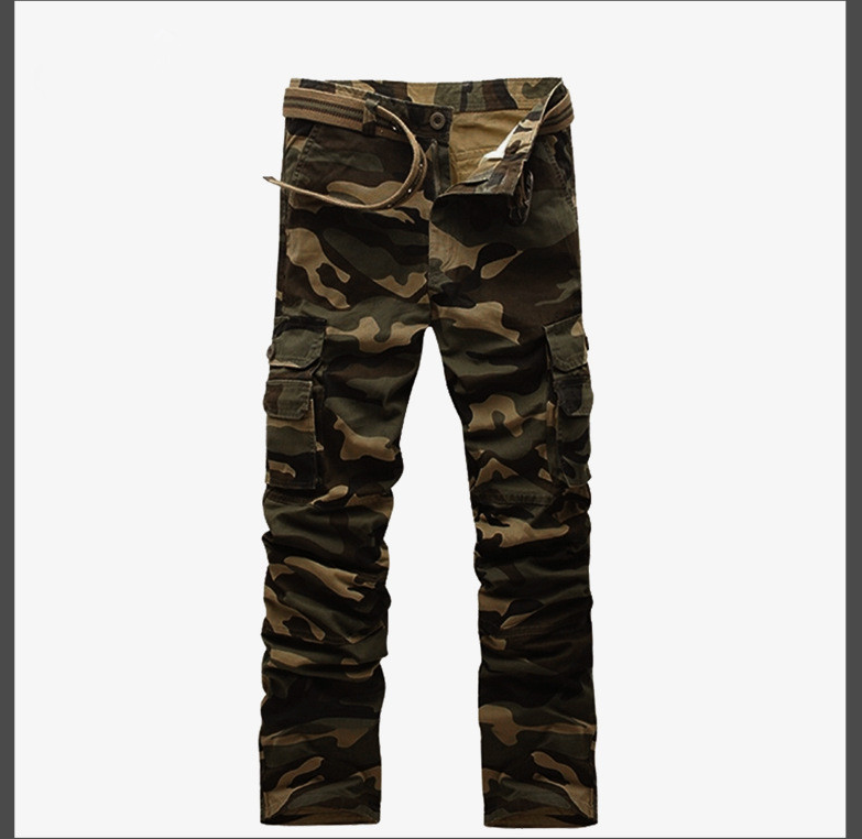 Army Cargo Camouflage Combat Style Overall Loose Multi-Pocket Mens Cargo Pants Hot Trend Plus Size Male Military Casual Toursers от Aliexpress INT