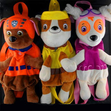 Cartoon puppy pow patrol dog plush backpack russian anime doll action figures toy patrulla canina juguetes gift for child